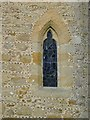 SU9936 : Window and galleted wall, Dunsfold church by Stefan Czapski