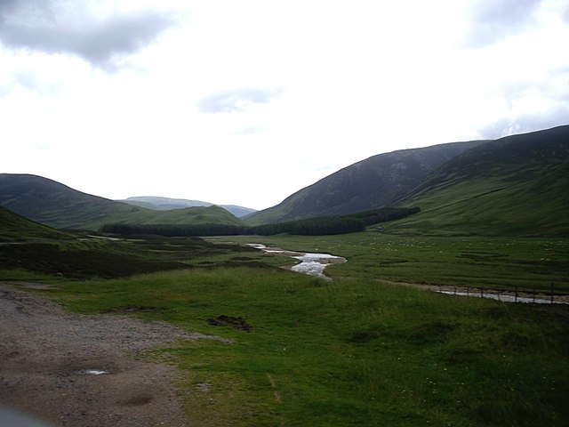 View up Glen Clunie (July 2012)