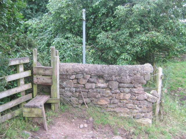 Stile for Mordon Parish Footpath No 2 to access the village green