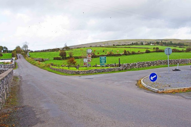 Road junction at Carran, Co. Clare