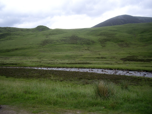 Water of Clunie at north end of Strone Baddoch