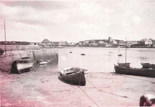 The Old Quay, Hugh Town in 1943