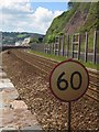 SX9473 : Railway approaching Teignmouth by Derek Harper