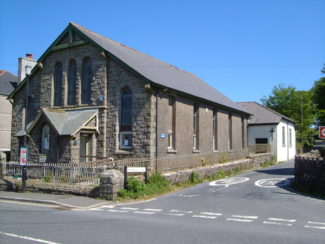Former Methodist Chapel, and church, Princetown