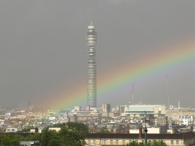 BT Tower in the weather
