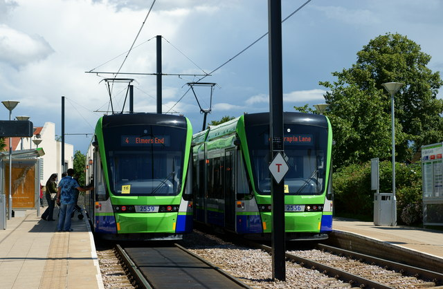Stadler Variobahn Trams at Sandilands