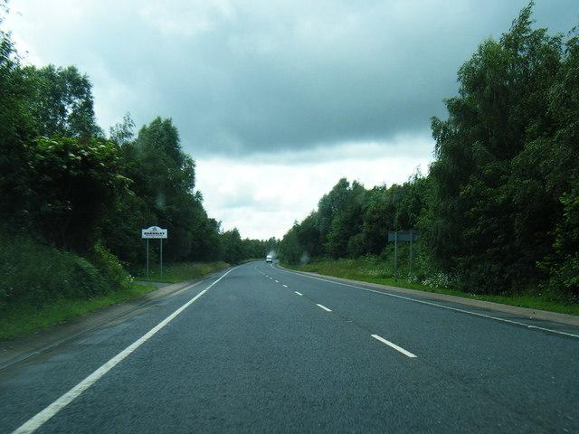 A628 at Barnsley boundary