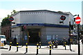TQ3075 : Clapham North Underground station by Dr Neil Clifton