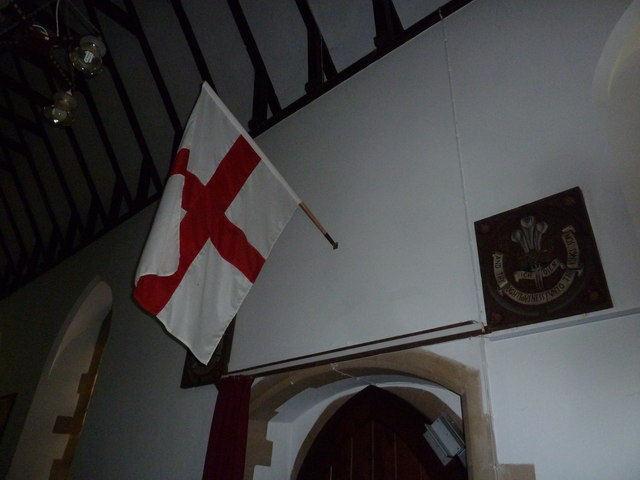 St Michael & All Angels, Weyhill: St George's flag