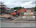 SO3013 : Klargester separator in the Aldi building site, Abergavenny by John Grayson
