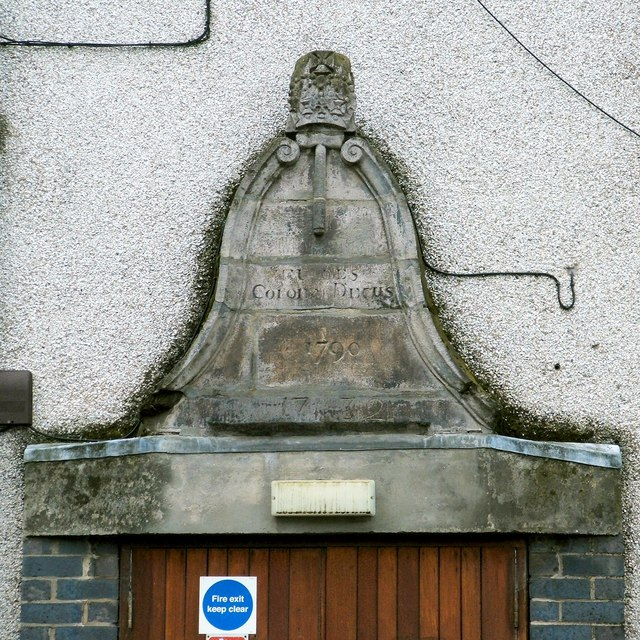 Old stone, Dumbarton Library