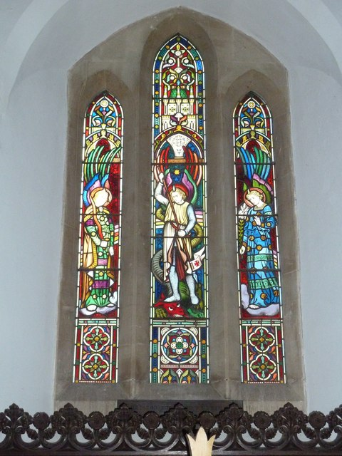  St Michael &amp; All Angels, Weyhill: stained glass window (d)