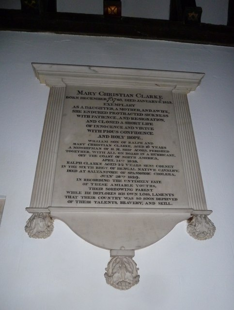 St Michael & All Angels, Weyhill: memorial (IV)