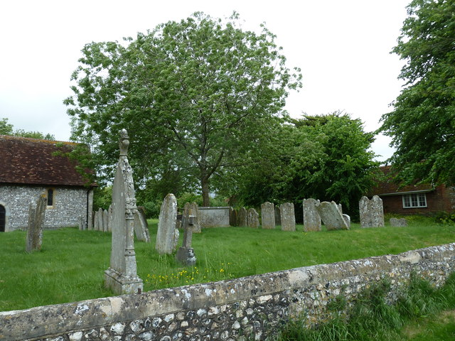 St Michael & All Angels, Weyhill: churchyard (A)