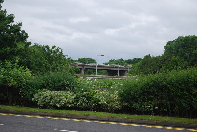 M62 bridge, Junction 33