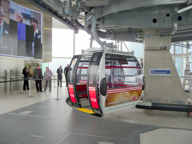 Cable Car Terminus At North Greenwich Christine Matthews