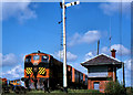 J2985 : Weed-spraying train, Kingsbog near Ballyclare (2) by Albert Bridge
