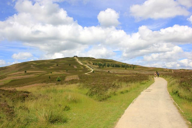 Offa's Dyke Path approaching Moel Famau