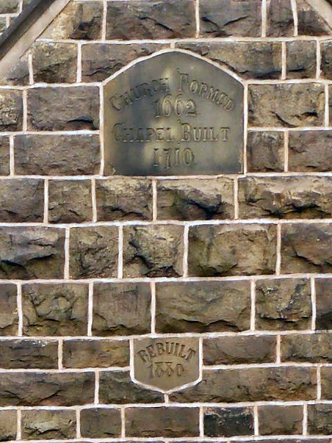 Tockholes URC, Stone Plaques