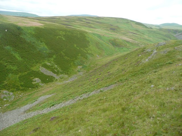 Natural south western defences to Humbleton Hillfort