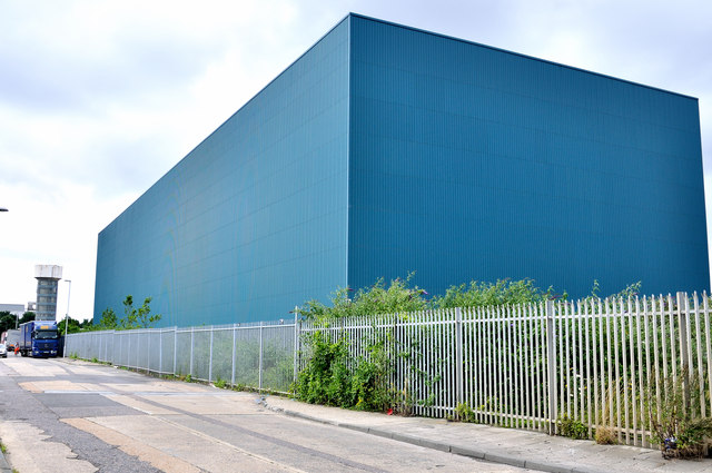 Giant warehouse at western end of Crete Hall Road - Rosherville