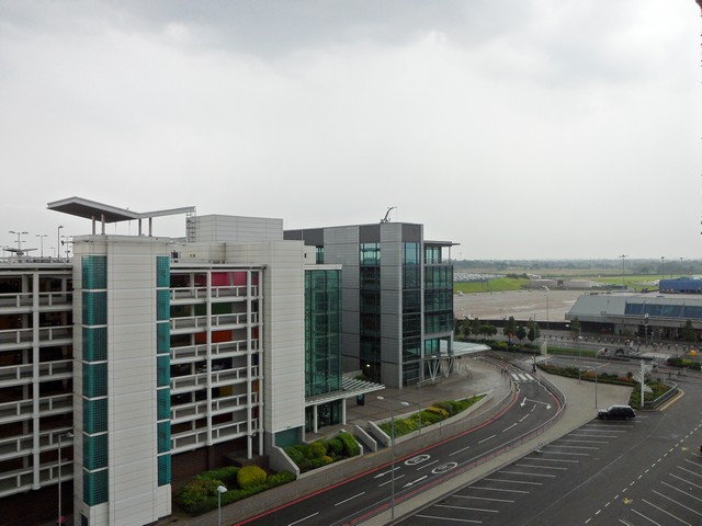 The edge of Birmingham Airport