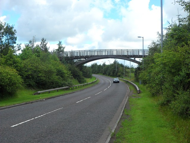 The A723, looking north