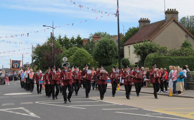 The Cranfield Accordion Band at the 2012 Twelfth of July Parade at Kilkeel