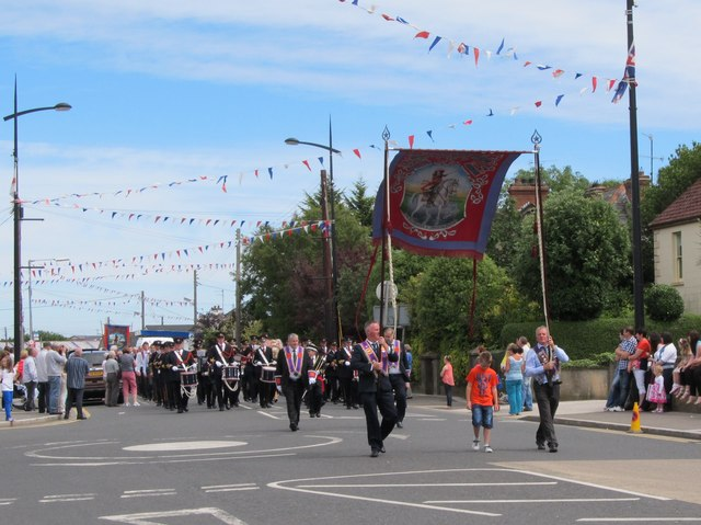 Banner and Band of Ballymageogh LOL No 1036