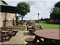 SE4117 : The beer garden at the Spread Eagle, Wragby by Ian S