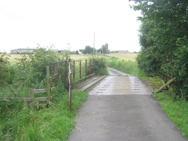 Deck of bridge over the River Skerne for road from Great Isle to Little isle and beyond