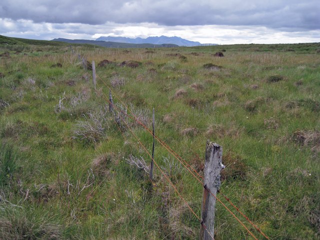 Old fence on the moor