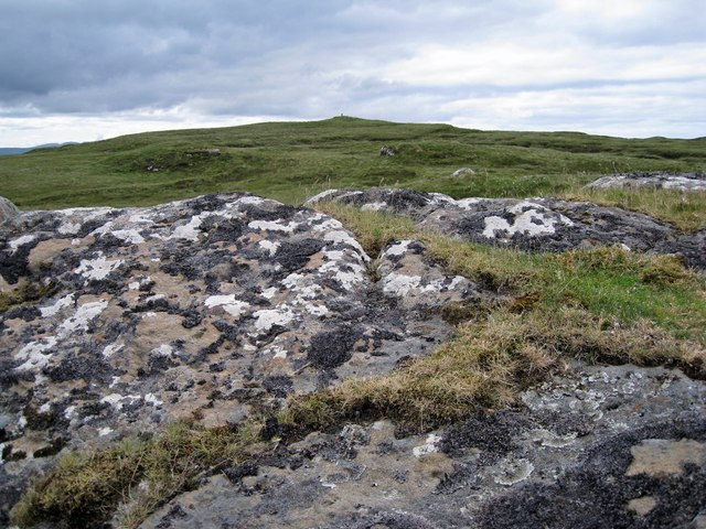 Rock outcrop on Ben Scudaig