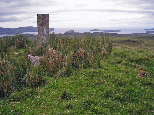 Summit trig point, Ben Scudaig