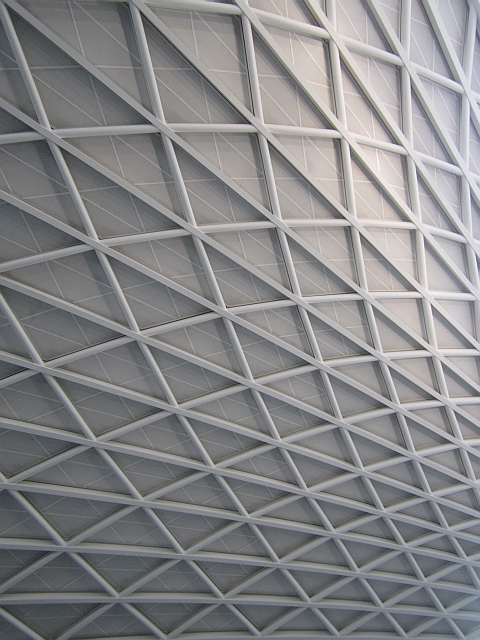 Departure concourse roof, King's Cross Station