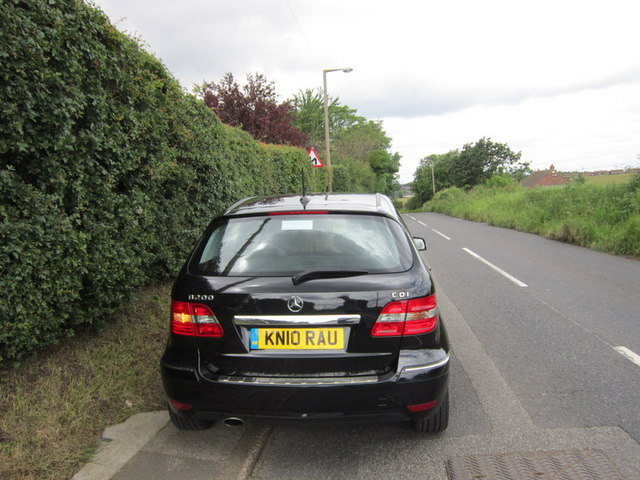 Pavement parking in Brierley