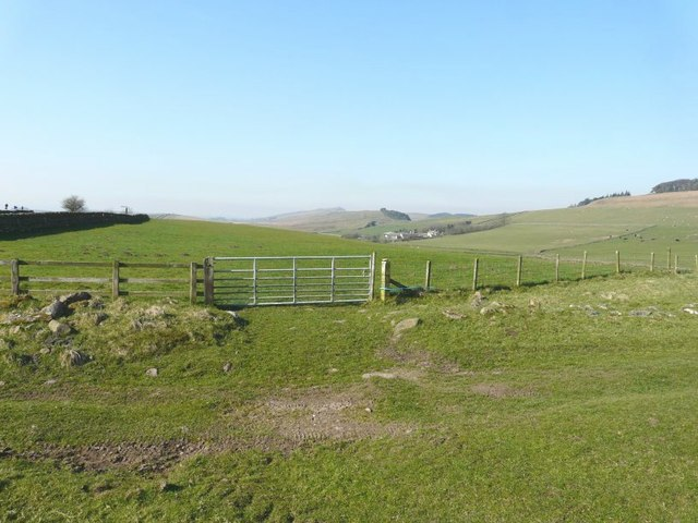 Looking over the gate in the direction of Bradley