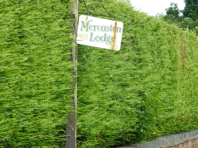Mercaston Lodge sign