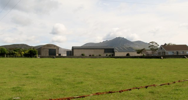 Farm buildings off the Moyad Road