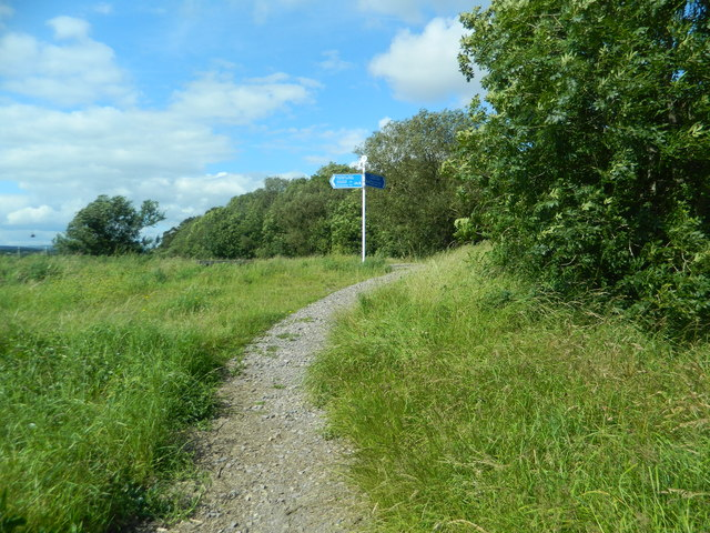 Signpost at the S.E. corner of the Rhymney Trail, Cardiff