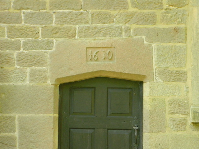Vestry door and date