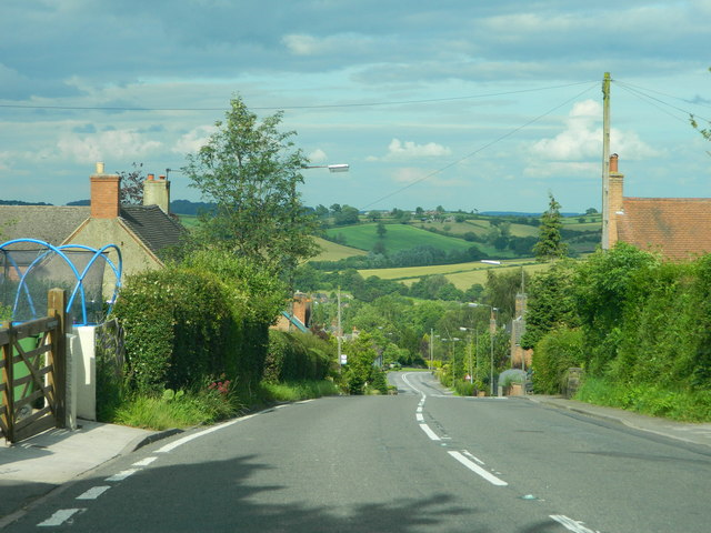 Main Road through Turnditch, A517