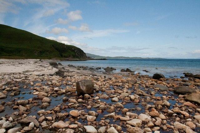 Mouth of Allt a' Ghlinne Dhuibh, Islay