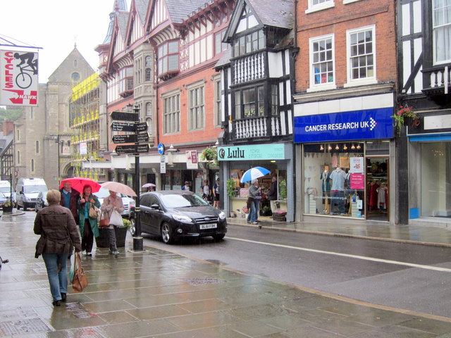 Cancer Research UK Shop, Castle Street Shrewsbury