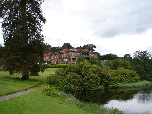 Raehills House from the lochan