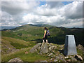 SD2191 : 'Blue remembered trig points', Great Stickle by Karl and Ali
