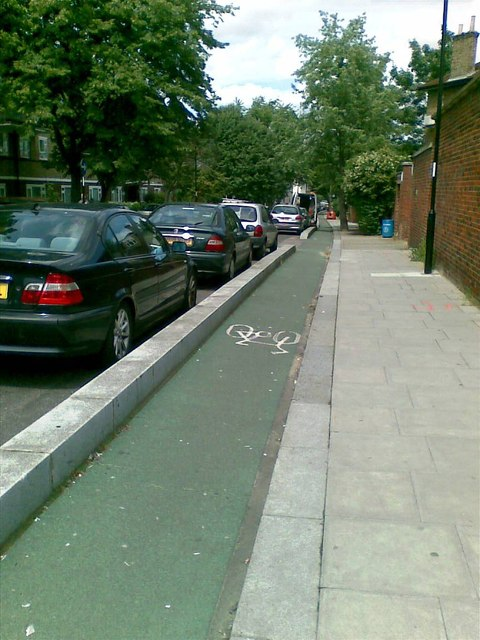 Cycle lane, Stanstead Road, Forest Hill