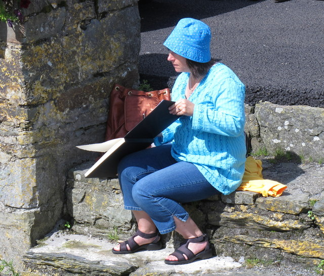 Artist on Long Quay, Kinsale