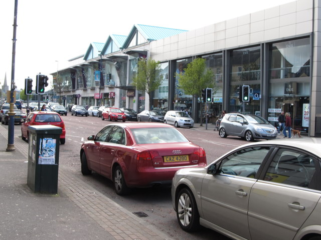 A parade of shops in Upper Main Street
