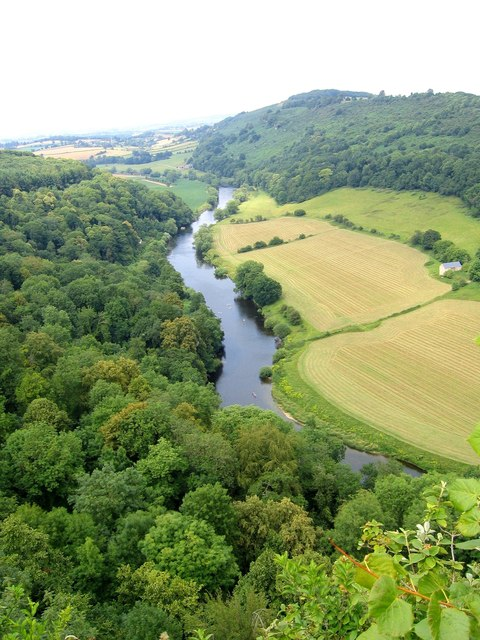 The Wye Valley from above at Symonds Yat